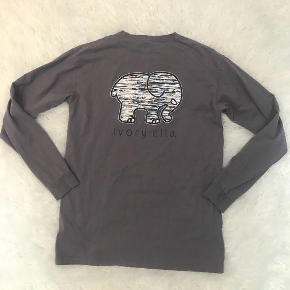 d553fa98c Ivory Ella Silver Striped Elephant Classic Fit Top